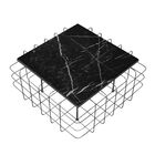 Grid Coffee Table Table Top Color: Black, Table Base Color: Rustic Bronze