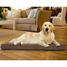 Arocho Terry and Suede Memory Foam Dog Bed Color: Espresso, Size: Small (20