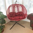 Pumpkin Swing Chair with Stand Color: Red