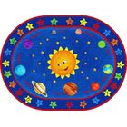 Out of This World Alphabet Blue Area Rug Size: Oval 6' x 9'