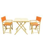 Despina Bamboo 3 Piece Bistro Set Color: Pottery