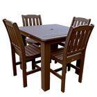 Phat Tommy Lehigh 5 Piece Dining Set Finish: Teak, Table Size: 42