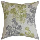 Eara Linen Throw Pillow Color: Moss, Size: 20