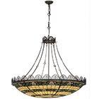 Shell and Ribbon 8-Light Bowl Pendant