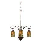 Victorian Lodge Tiffany Acorn 3-Light Shaded Chandelier
