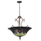 Victorian Tiffany 3-Light Bowl Pendant