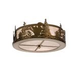 Loon 2-Light Flush Mount