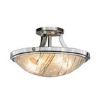 Metro Fusion Branches 2-Light Semi-Flush Mount
