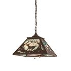 Greenbriar Oak Deer At Dawn 2-Light Dome Pendant