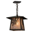 Wyndham Winter Pine 1-Light Mini Pendant Size: 19.5