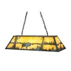 Buffalo at Lake Oblong 9-Light Pendant