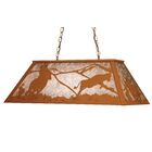 Cowboy and Steer 6-Light Pool Table Lights