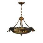 Greenbriar Oak 2-Light Bowl Pendant