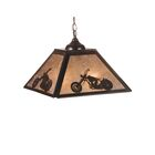 Motorcycle 2-Light Square/Rectangle Pendant