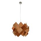 Escape 1-Light Pendant Bulb Type: GU24, Shade Color: Natural Cherry