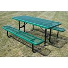 Extra Heavy Duty Picnic Table Finish: Blue/Blue, Table Size: 8'