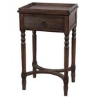 Brook Lane End Table with Drawer Color: Brown