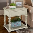 Sweet Tea End Table With Storage� Color: Linen