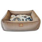 Lounge Bed Bolster Color: Coco/Heirloom Blue Velvet, Size: Large - 44