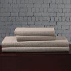 Linen Blend Sheet Set Size: King, Color: Khaki