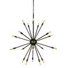 Simone 24-Light Chandelier Color: Antique Brass