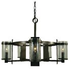 Hammersmith 5-Light Shaded Chandelier Shade Color: Clear, Color: Mahogany Bronze