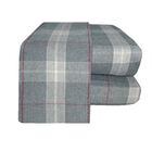 Flannel Sheet Set Color: Gray/Red, Size: Full