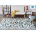 Ashbrook Cream/Blue Area Rug Rug Size: 7'6'' x 9'10''