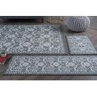 Corrina 4 Piece Charcoal Floral Area Rug