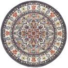 Tyshawn Oriental Gray/Brown Area Rug Rug Size: 7'10'' Round
