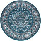 Tyshawn Oriental Blue Area Rug Rug Size: 7'10'' Round
