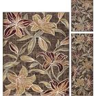 Highland Creek Lily Transitional 3 Piece Brown Area Rug Set