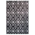 Touch Black/White Indoor Area Rug Rug Size: 8' x 11'