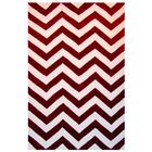 Capri Red/White Area Rug