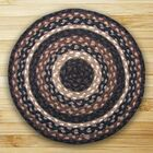 Braided Mocha/Frappuccino Area Rug Rug Size: Round 4'