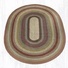 Scolley Braided Red / Brown Area Rug Rug Size: Oval 8' x 11'