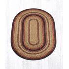 Braided Black Cherry Area Rug Rug Size: Oval 4' x 6'