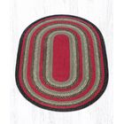 Burgundy/Olive/Charcoal Braided Area Rug Rug Size: Oval 5' x 8'