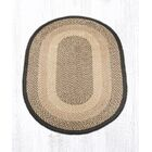 Chocolate/Natural Braided Area Rug Rug Size: Oval 4' x 6'