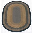 Brown/Black/Charcoal Braided Area Rug Rug Size: Oval 5' x 8'