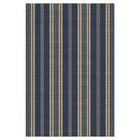 Hand Woven Navy Indoor/Outdoor Area Rug Rug Size: Rectangle 6' x 9'