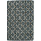 Plain Tin Hooked Blue/Brown Area Rug Rug Size: Rectangle 3' x 5'