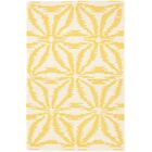 Aster Hooked Gold Area Rug Rug Size: Rectangle 6' x 9'