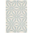 Aster Hooked White/Blue Area Rug Rug Size: Rectangle 9' x 12'
