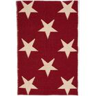 Star Hand Woven Red Indoor/Outdoor Area Rug Rug Size: Runner 2'6