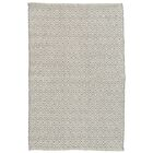 Crystal Gray/White Indoor/Outdoor Area Rug Rug Size: Runner 2'6