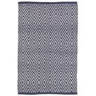 Diamond Blue/White Indoor/Outdoor Area Rug Rug Size: Rectangle 3' x 5'