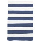 Catamaran Stripe Blue/White Indoor/Outdoor Area Rug Rug Size: Runner 2'6