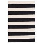Catamaran Stripe Black/Off-White Indoor/Outdoor Area Rug Rug Size: 4' x 6'