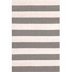 Catamaran Hand-Woven Gray/White Indoor/Outdoor Area Rug Rug Size: 4' x 6'
